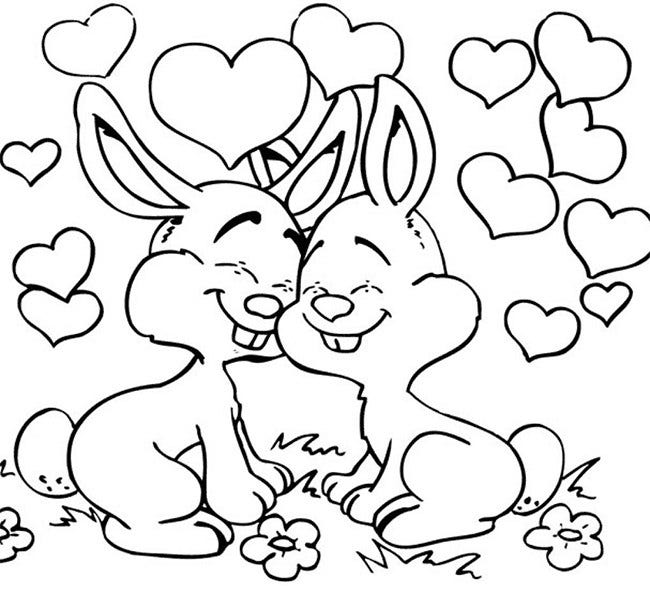 rabbit coloring page rabbit coloring page rabbit page coloring