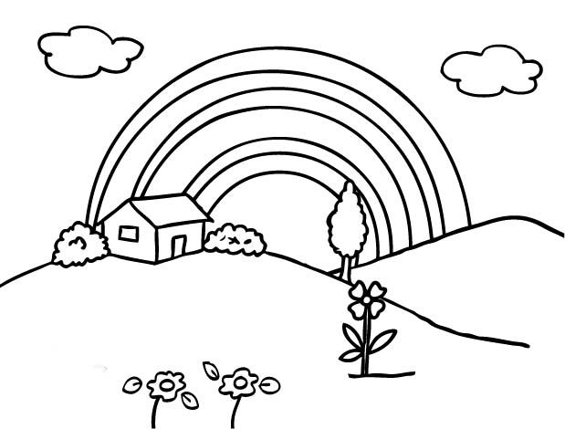 rainbow house coloring pages coloring pages rainbow coloring sheet rainbow coloring house pages rainbow coloring