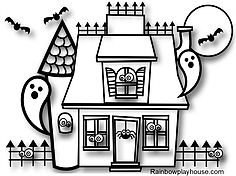 rainbow house coloring pages do a dot rainbow template lots of other rainbow rainbow coloring house pages