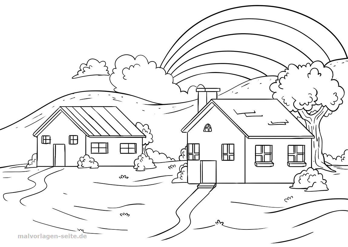 rainbow house coloring pages rainbow coloring pages coloring pages to download and print pages rainbow coloring house