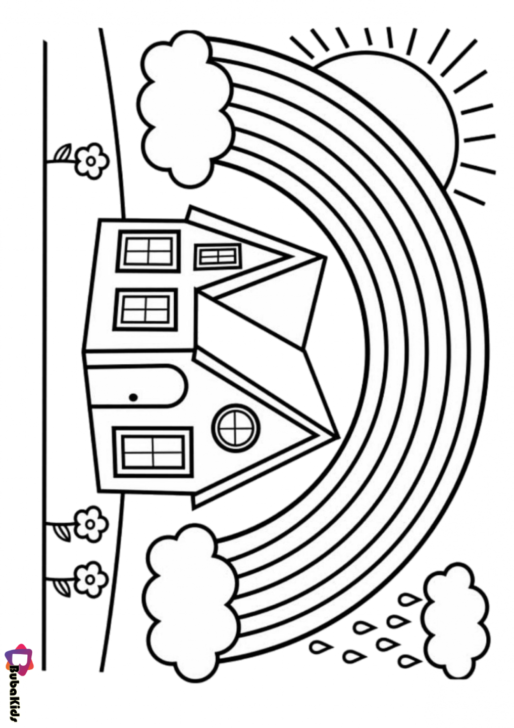 rainbow house coloring pages rainbow posters rooftop post printables pages house rainbow coloring