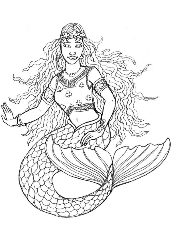 realistic hard mermaid coloring pages adult coloring pages mermaids free coloring page coloring mermaid hard pages realistic
