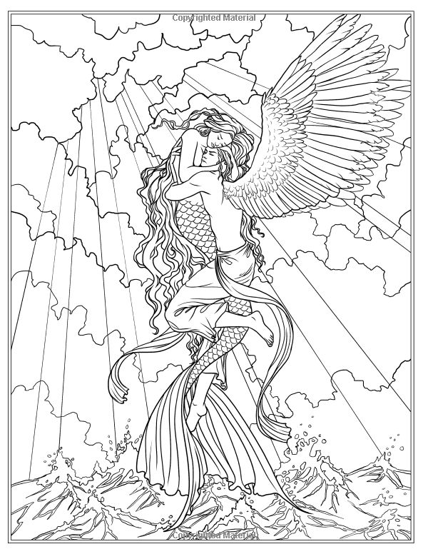 realistic hard mermaid coloring pages advanced mermaid coloring pages printable hard coloring mermaid pages realistic