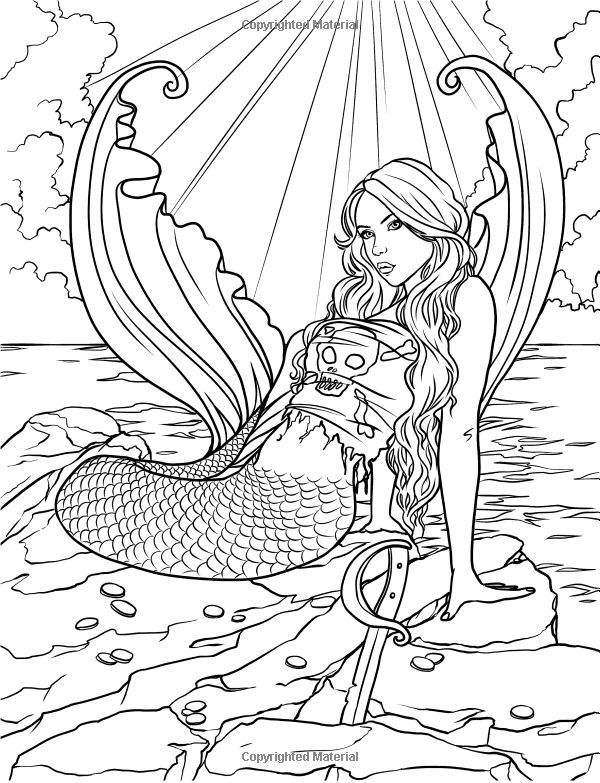 realistic hard mermaid coloring pages free coloring page coloring adult mermaid and child realistic mermaid hard coloring pages