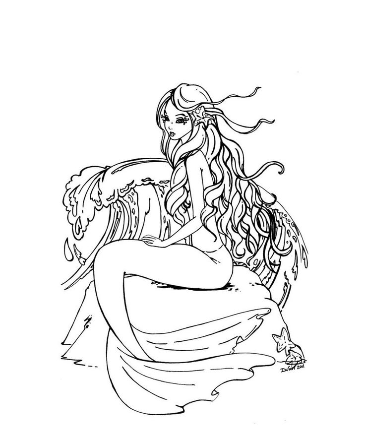 realistic hard mermaid coloring pages image result for diane s martin mermaid coloring pages pages hard coloring realistic mermaid