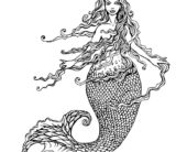 realistic hard mermaid coloring pages pin by jennifer pimm on artful walls mermaid coloring realistic hard coloring mermaid pages