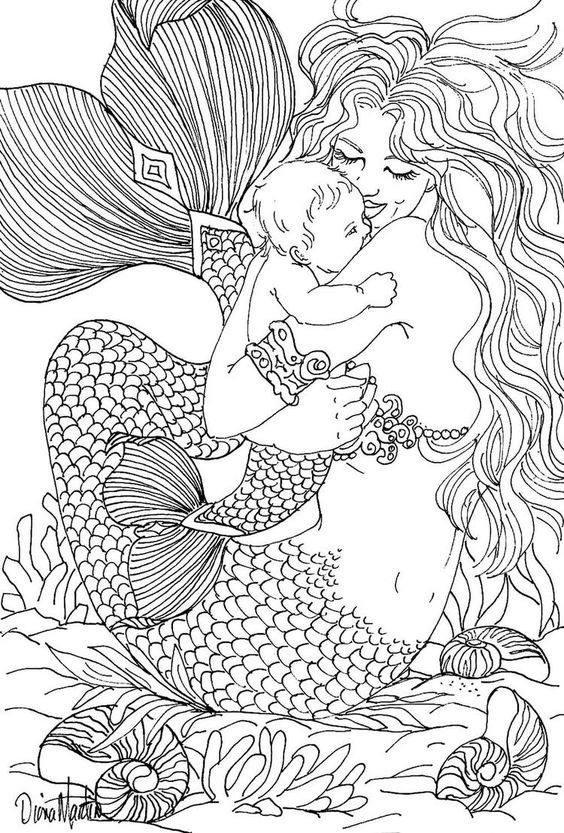realistic hard mermaid coloring pages realistic mermaid coloring pages drawings pinterest realistic pages coloring hard mermaid