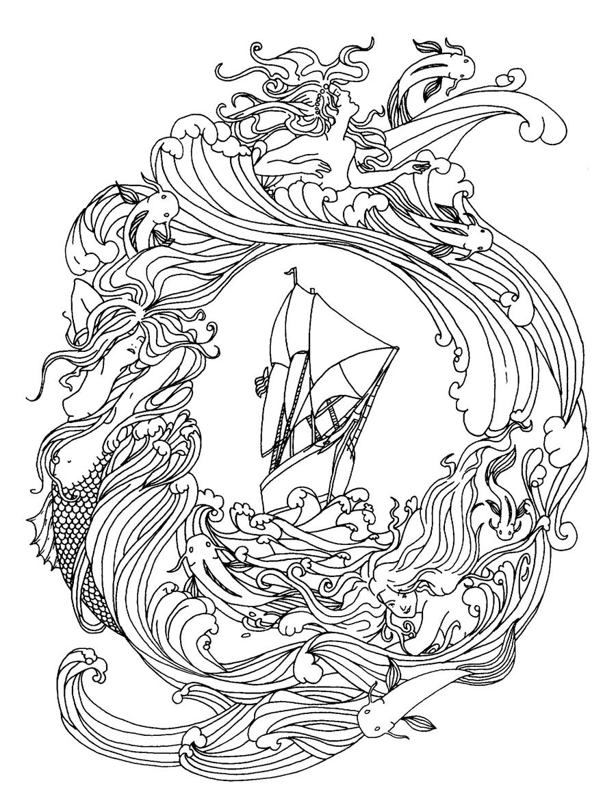 realistic hard mermaid coloring pages realistic mermaid coloring pages for adults coloring pages mermaid pages realistic coloring hard