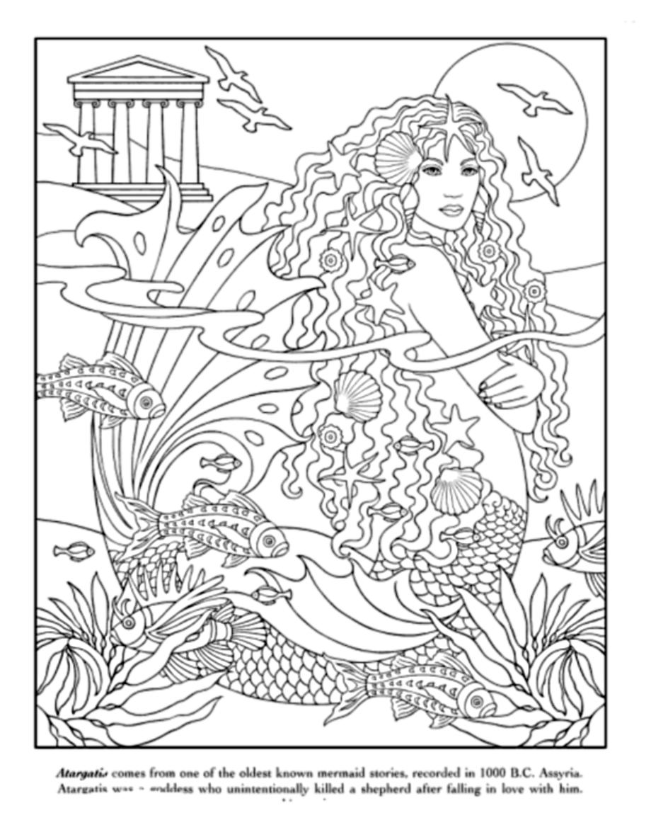 realistic hard mermaid coloring pages underwater playtime adult coloring page mermaid coloring realistic coloring mermaid pages hard