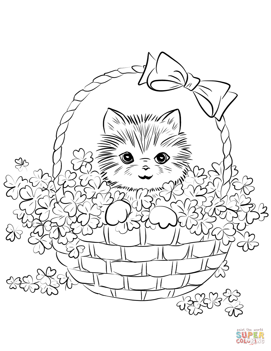 realistic kitten cat coloring pages cute kitten drawing at getdrawings free download kitten cat realistic pages coloring