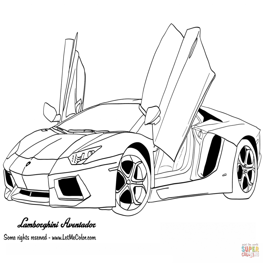 realistic lamborghini coloring pages lamborghini aventador drawing outline free download on lamborghini coloring pages realistic