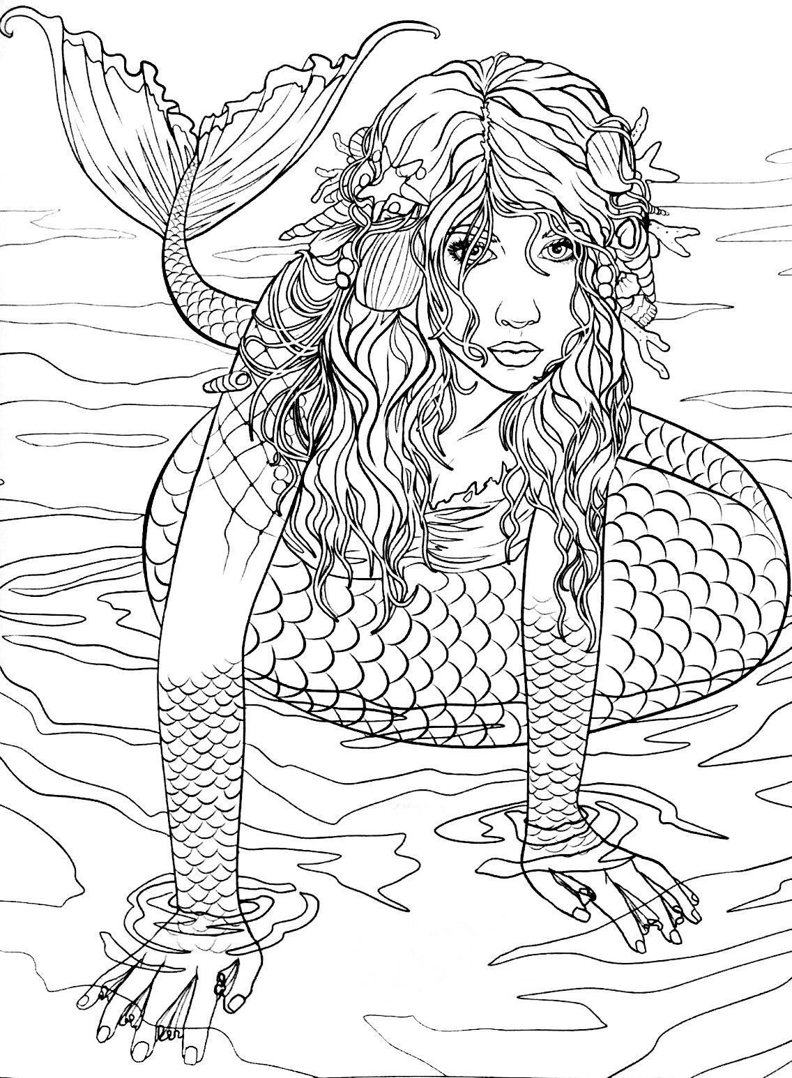realistic printable mermaid coloring pages coloring pages mermaid ideas whitesbelfast mermaid realistic printable coloring pages