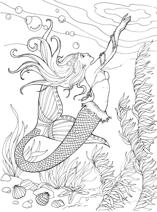 realistic printable mermaid coloring pages printable realistic mermaid coloring pages pages mermaid realistic coloring printable