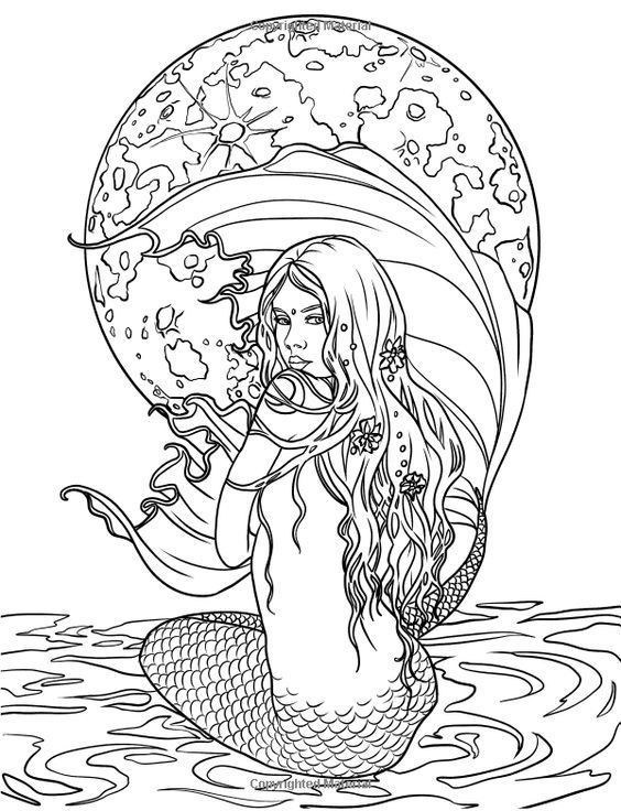 realistic printable mermaid coloring pages realistic mermaid coloring pages mermaid blog realistic coloring printable mermaid pages