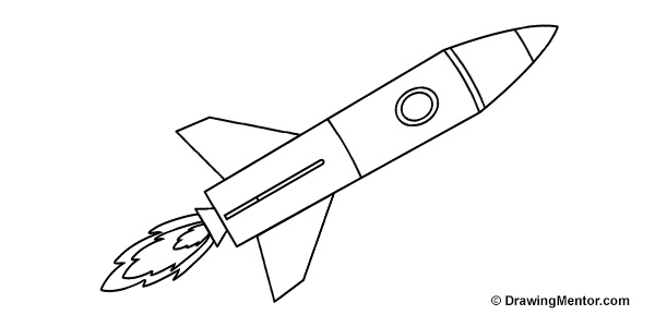 rocket drawings how to draw a rocket ship tutorial rocket drawings