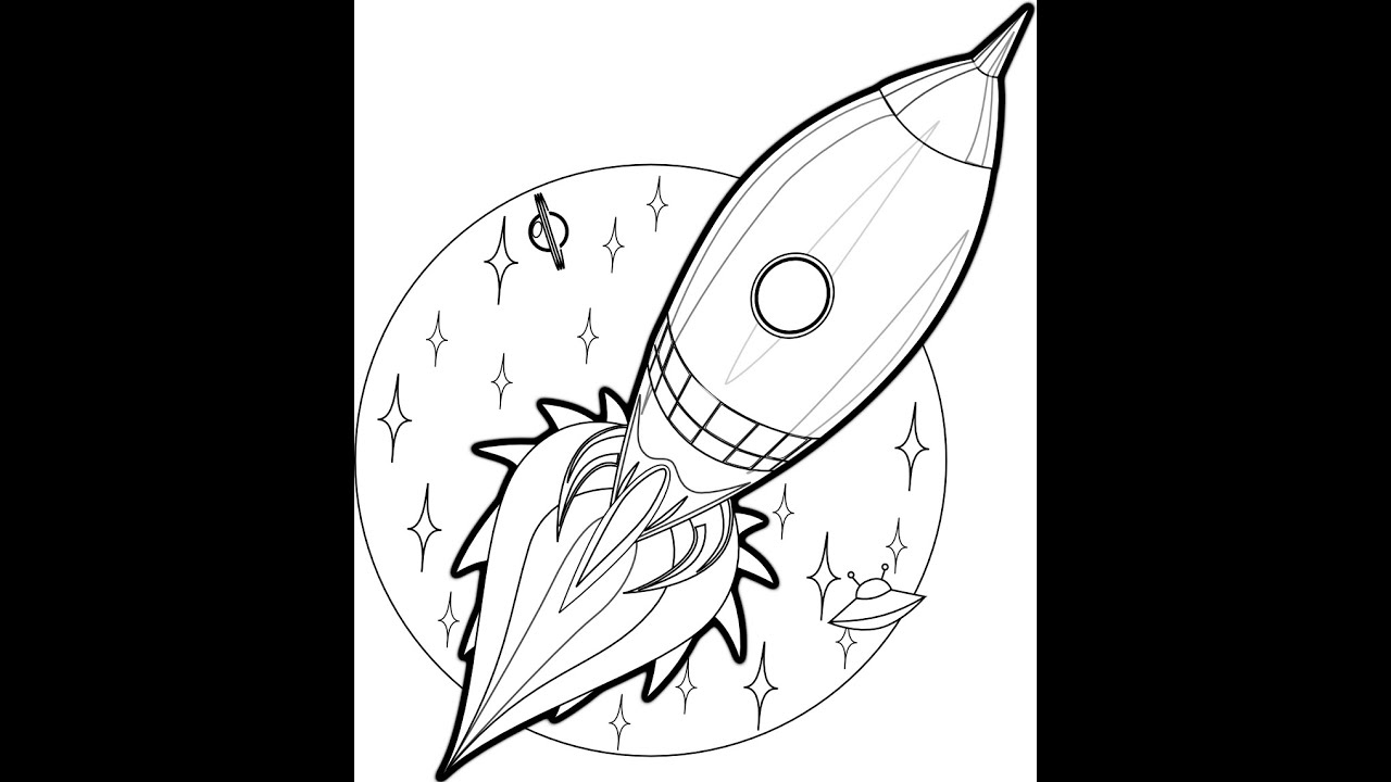 rocket drawings how to draw a rocket ship tutorial step by step youtube rocket drawings