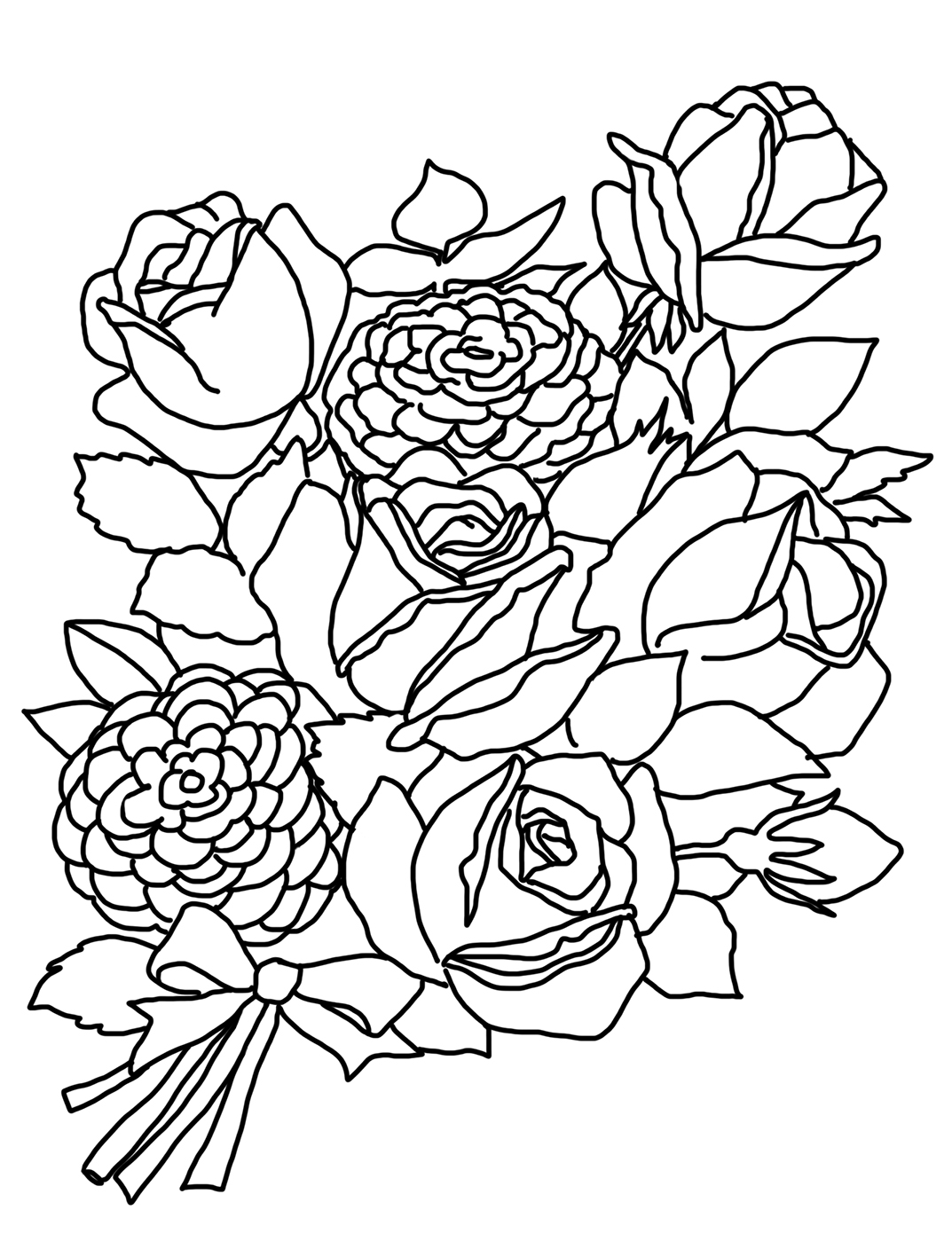 rose coloring page printable rose coloring pages for kids page coloring rose