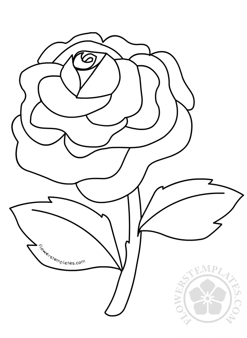 rose coloring sheet flower coloring pages rose flower coloring pages kids flowers templates flower sheet rose pages coloring coloring