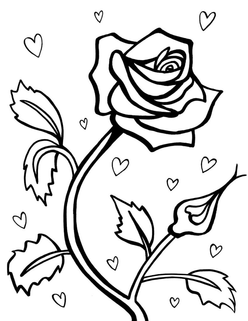 rose for coloring coloring pages roses coloring pages getcoloringpages rose coloring rose for