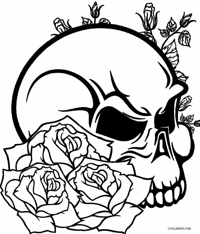 rose for coloring realistic skull drawing at getdrawings free download for coloring rose