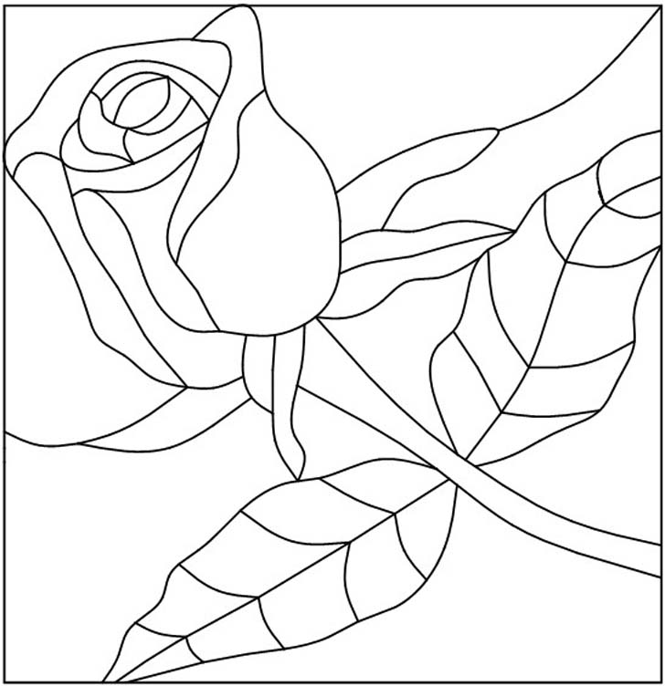rose stained glass coloring pages beauty and the beast stained glass window coloring page stained pages glass coloring rose