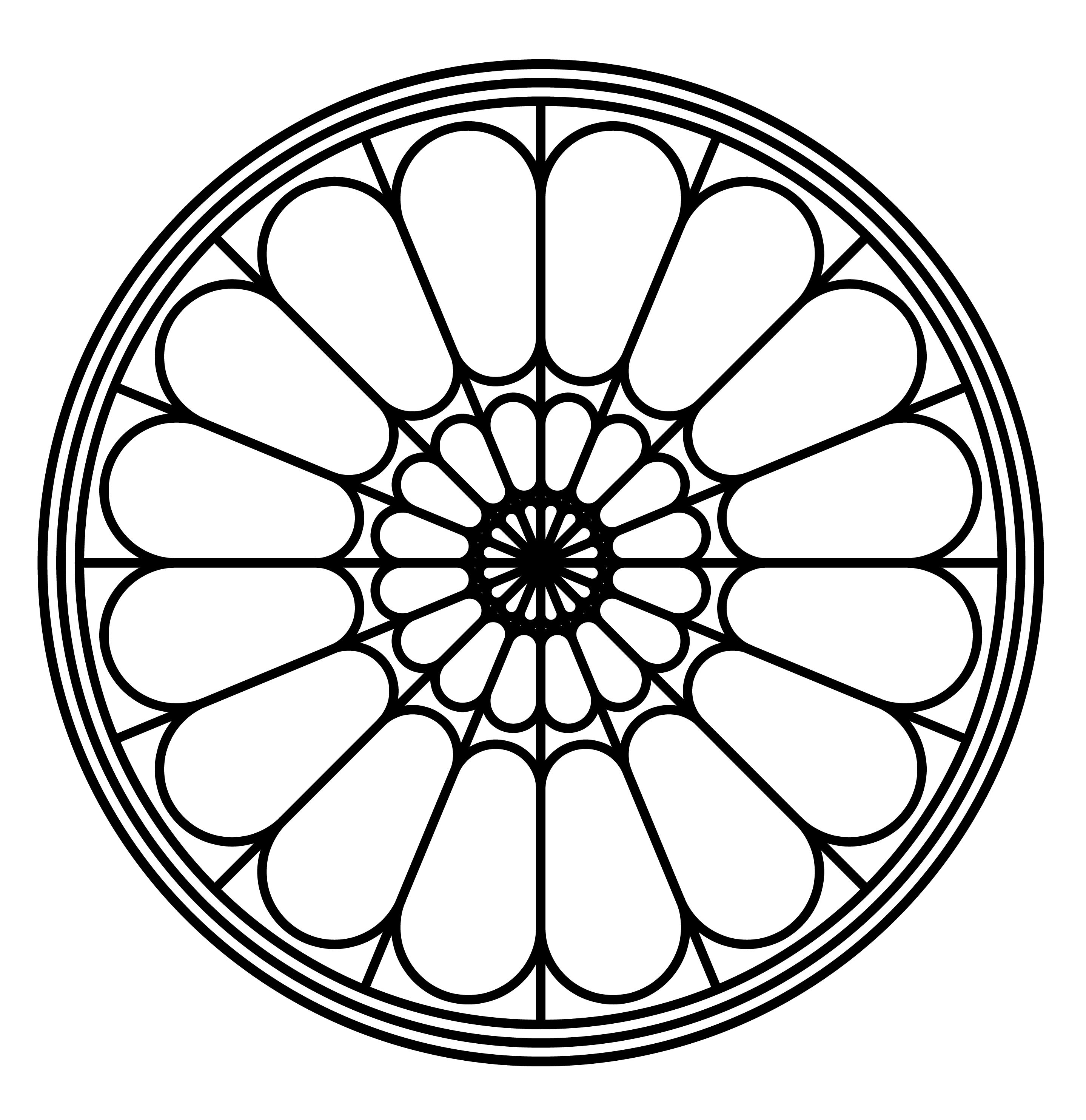 rose stained glass coloring pages rose window drawing at getdrawings free download rose glass pages stained coloring