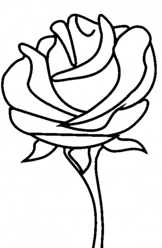 rose to color free printable roses coloring pages for kids to rose color 1 2