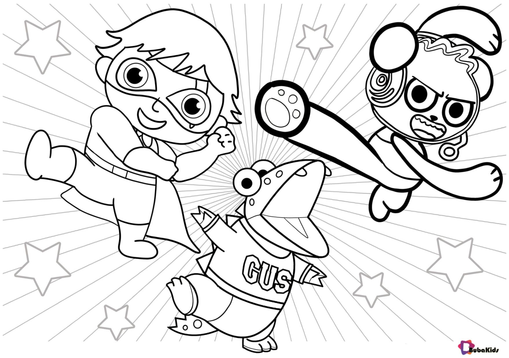 Ryan's world printable coloring pages