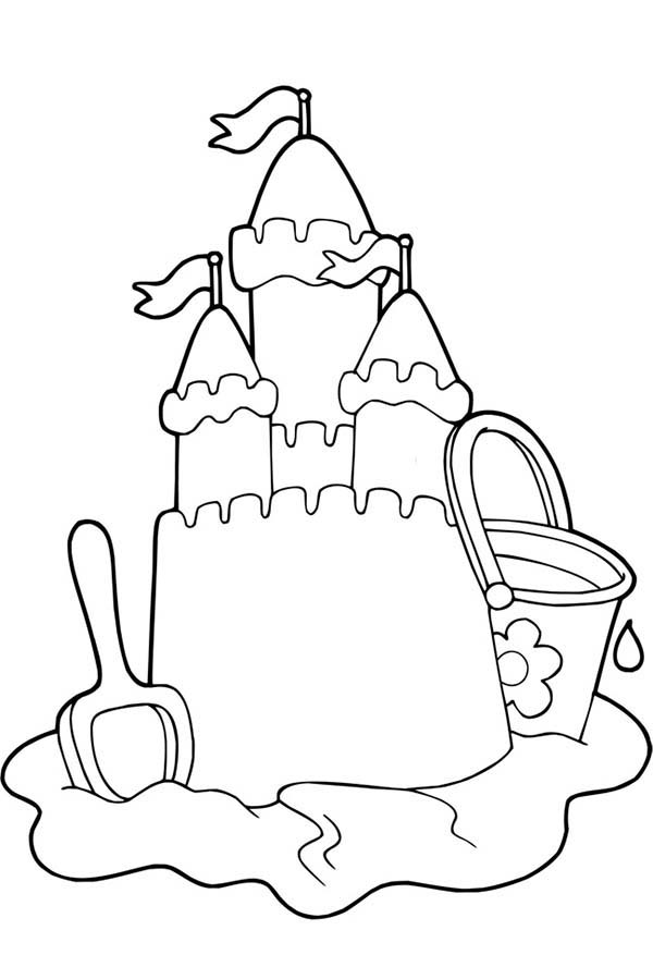 sand castle coloring pictures beautiful sand castle picture coloring page download sand castle pictures coloring