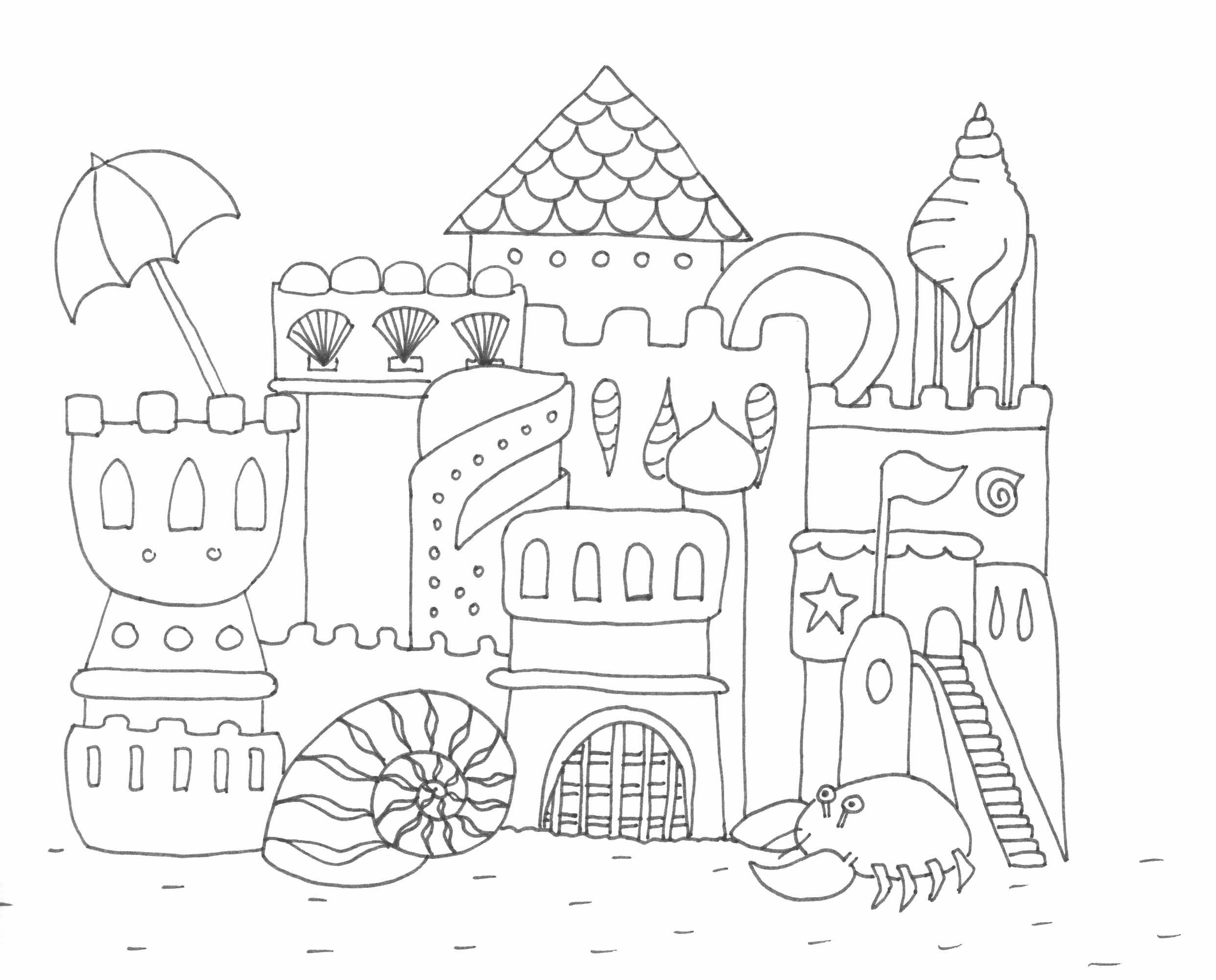 sand castle coloring pictures creating sand castle on beach at summer coloring picture pictures coloring castle sand