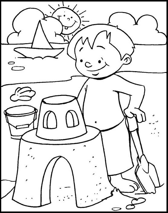 sand castle coloring pictures sand castle on the beach coloring page download print coloring castle sand pictures