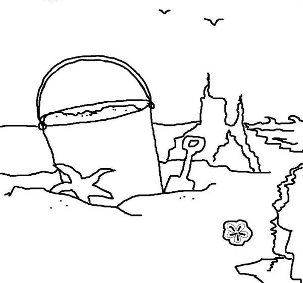 sand castle coloring pictures sandcastle colouring page castle sand coloring pictures