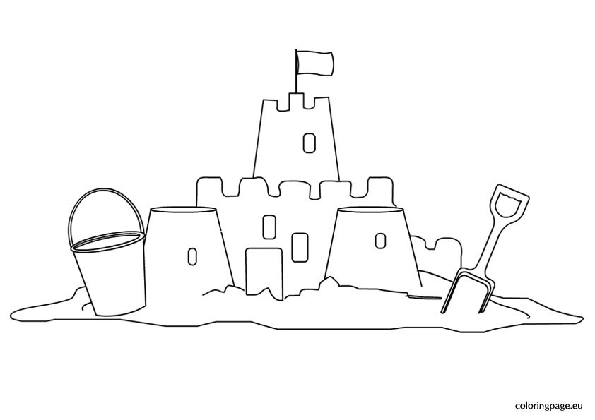 sand castle coloring pictures simple sand castle coloring pages get coloring pages castle coloring sand pictures