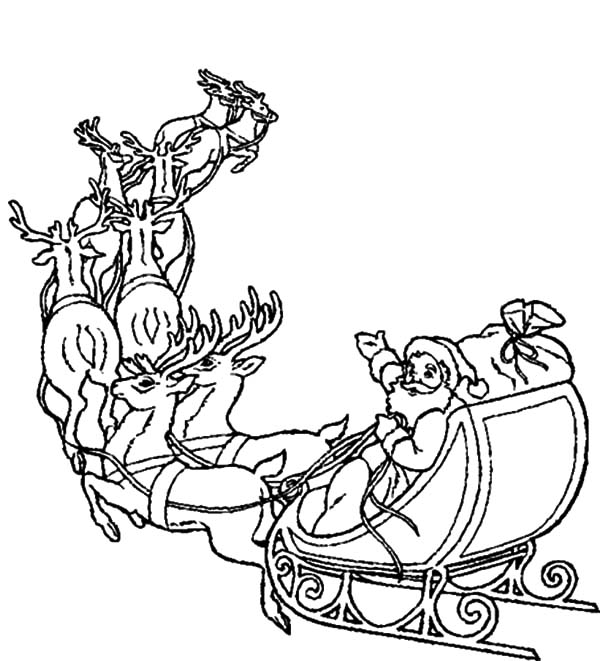 santa and his sleigh coloring pages printable christmas coloring page santa in sleigh pages sleigh santa coloring and his