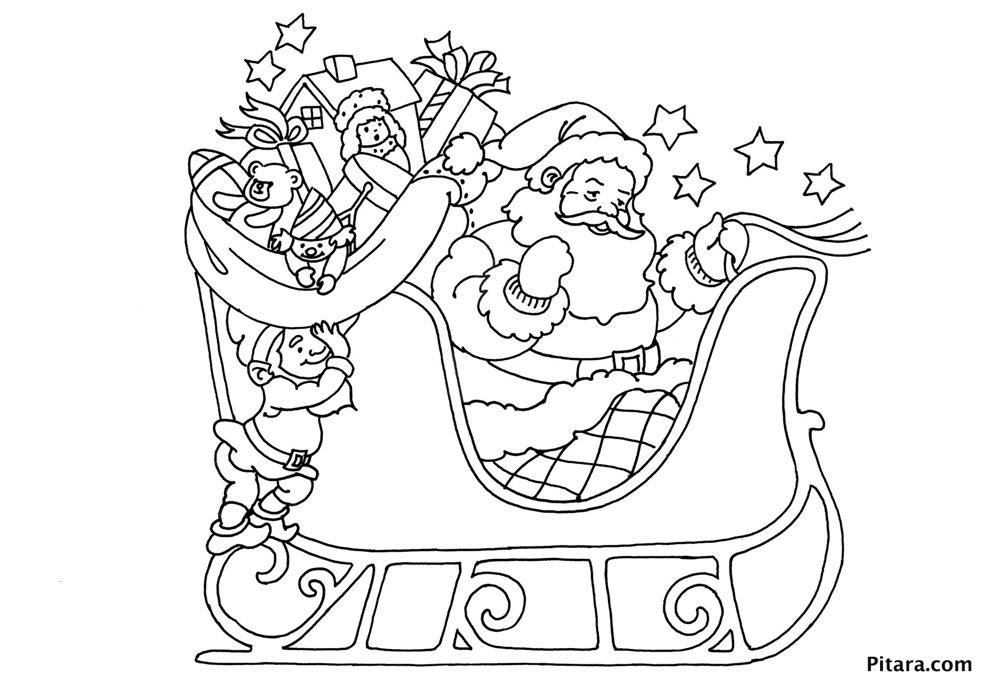 santa and his sleigh coloring pages santa in his sleigh colouring pages clip art library his pages sleigh santa and coloring