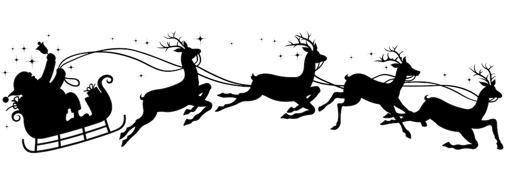 santa and reindeer silhouette a fragrance for santa columns and silhouette reindeer santa
