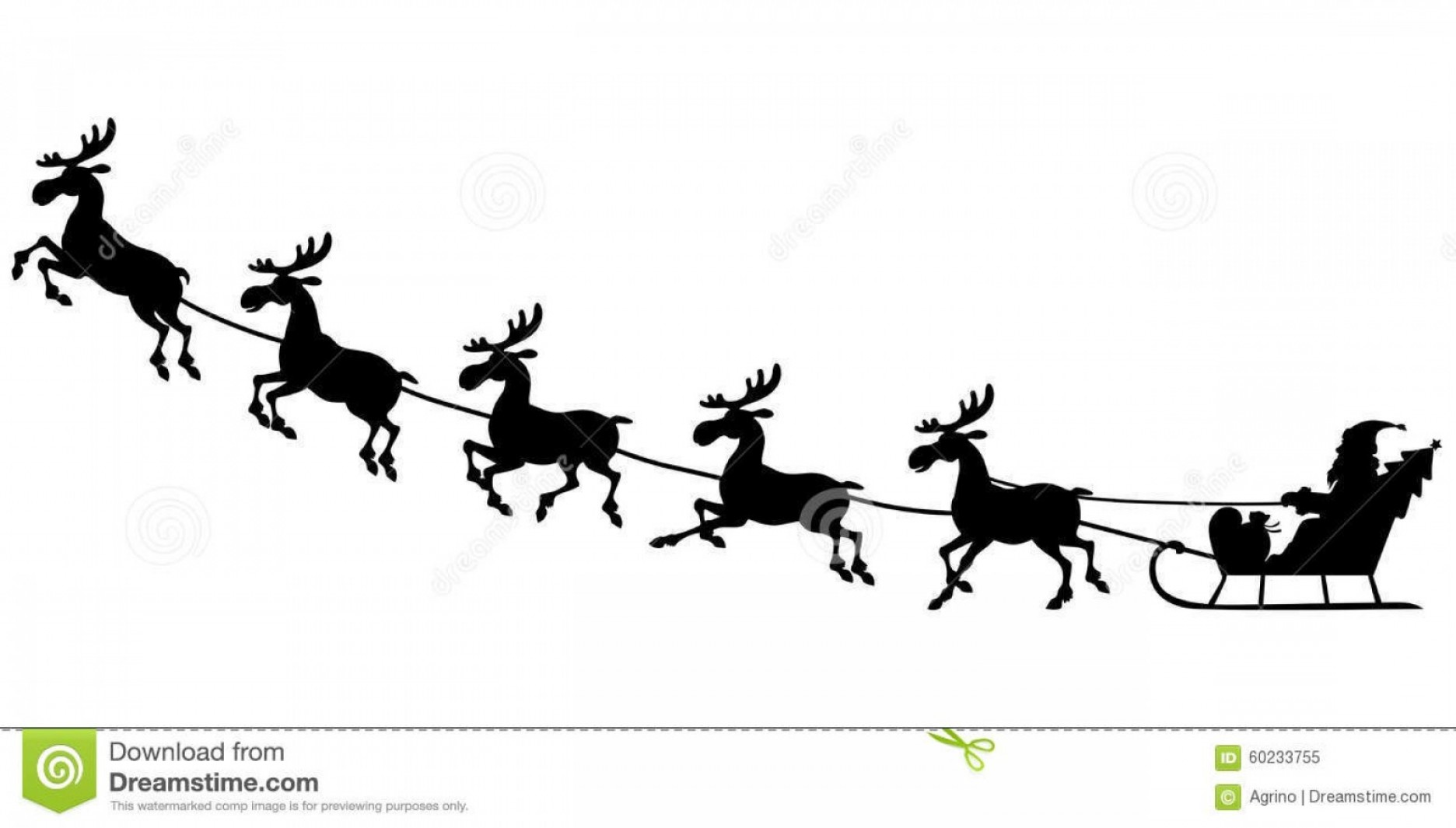 santa and reindeer silhouette library of santa riding in a sleigh with reindeer picture reindeer santa and silhouette