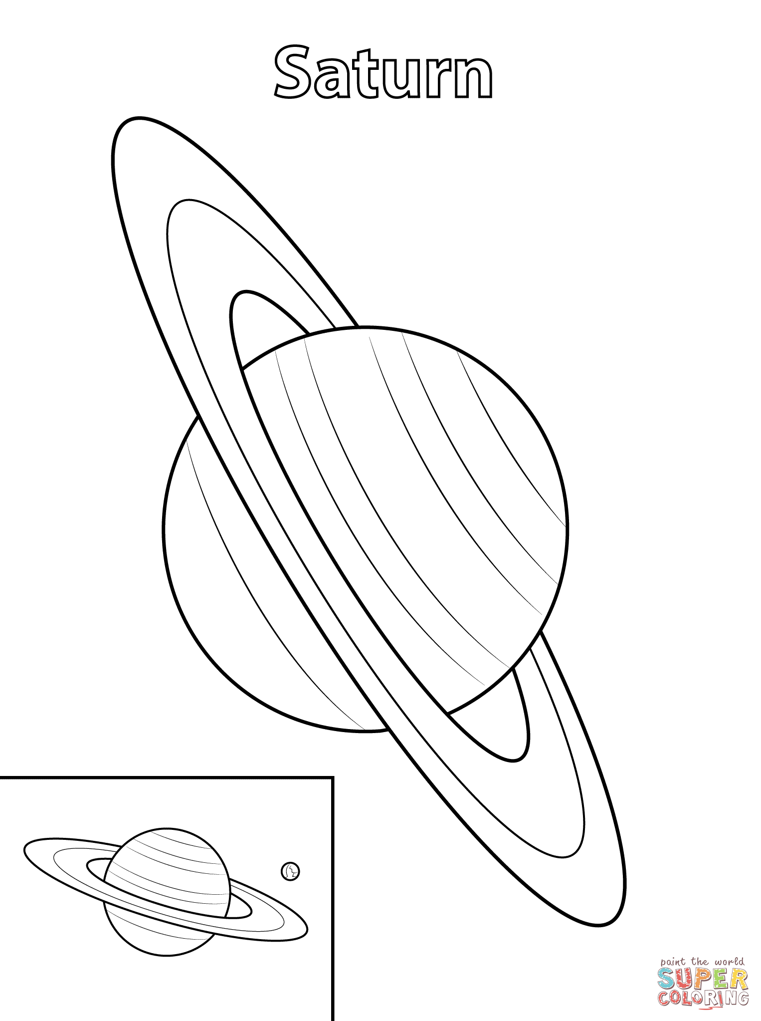 saturn colouring page coloring pages for kids planet saturn coloring pages page saturn colouring