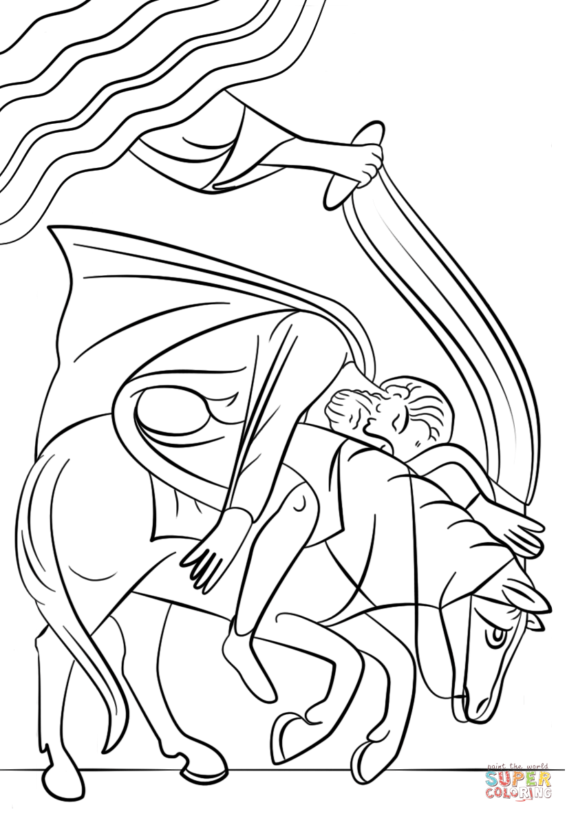 saul becomes paul coloring pages paul39s conversion on the road to damascus coloring page pages saul coloring becomes paul
