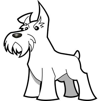 schnauzer coloring pages miniature schnauzer drawing at getdrawings free download schnauzer pages coloring