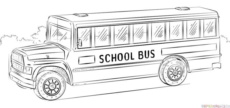 school bus steps how to draw school busses easy drawing tutorial for kids steps bus school