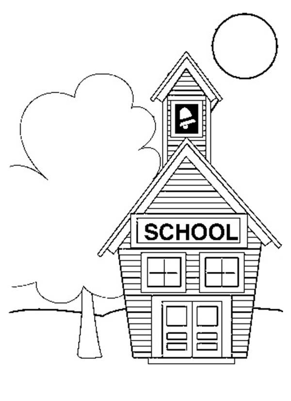 school house coloring sheet little want to learn at school house coloring page coloring house school sheet