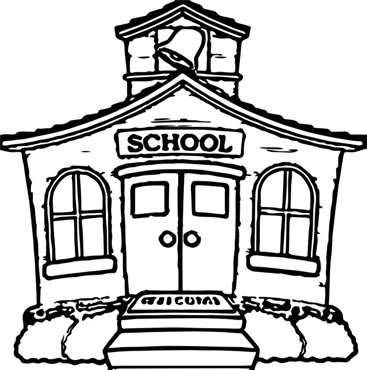 school house coloring sheet school house drawing at getdrawings free download school sheet house coloring