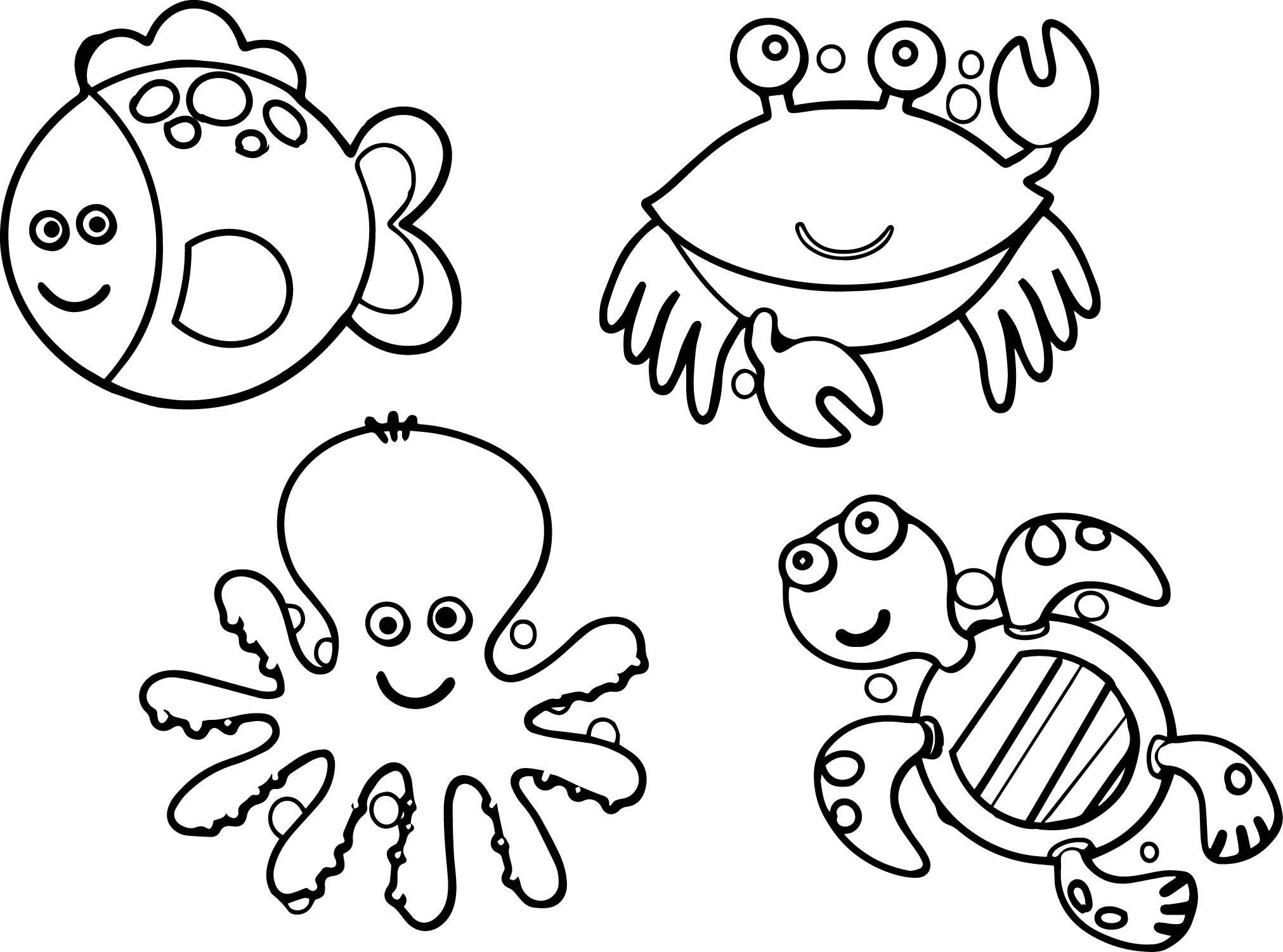 sea life animals coloring pages cute sea animals coloring pages getcoloringpagescom life sea coloring animals pages