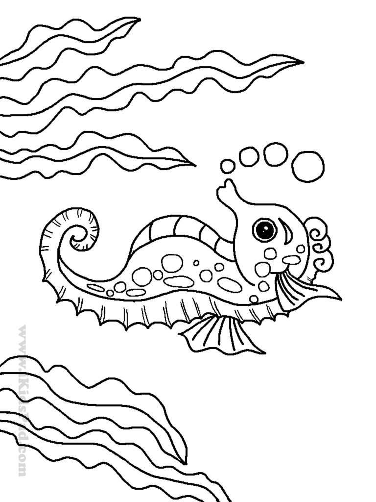 Sea life animals coloring pages