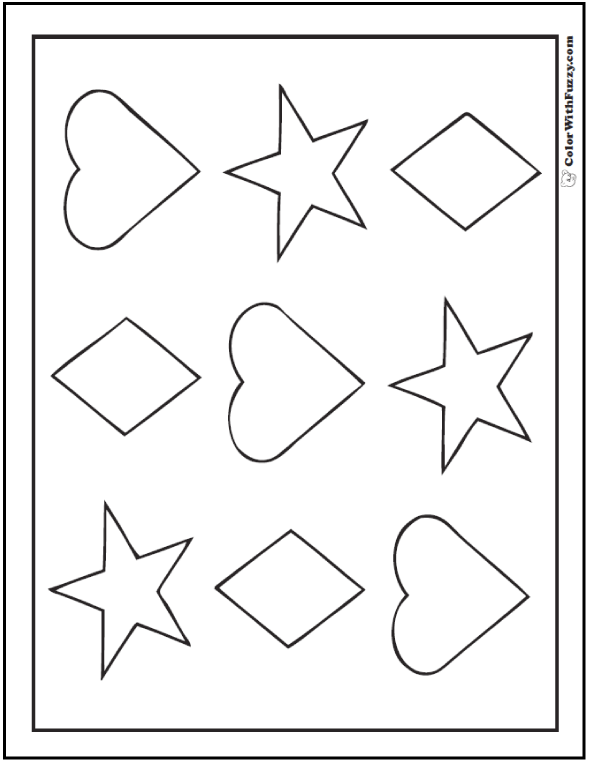 shapes images for coloring free printable geometric coloring pages for adults images coloring shapes for