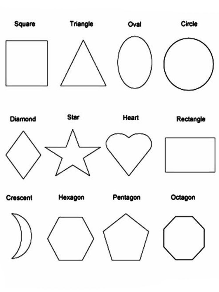 shapes images for coloring shapes 4 coloring page images for shapes coloring