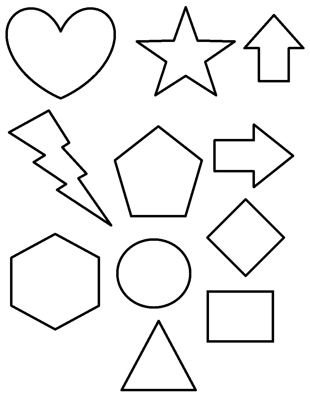 shapes images for coloring shapes coloring pages kidsuki shapes coloring images for