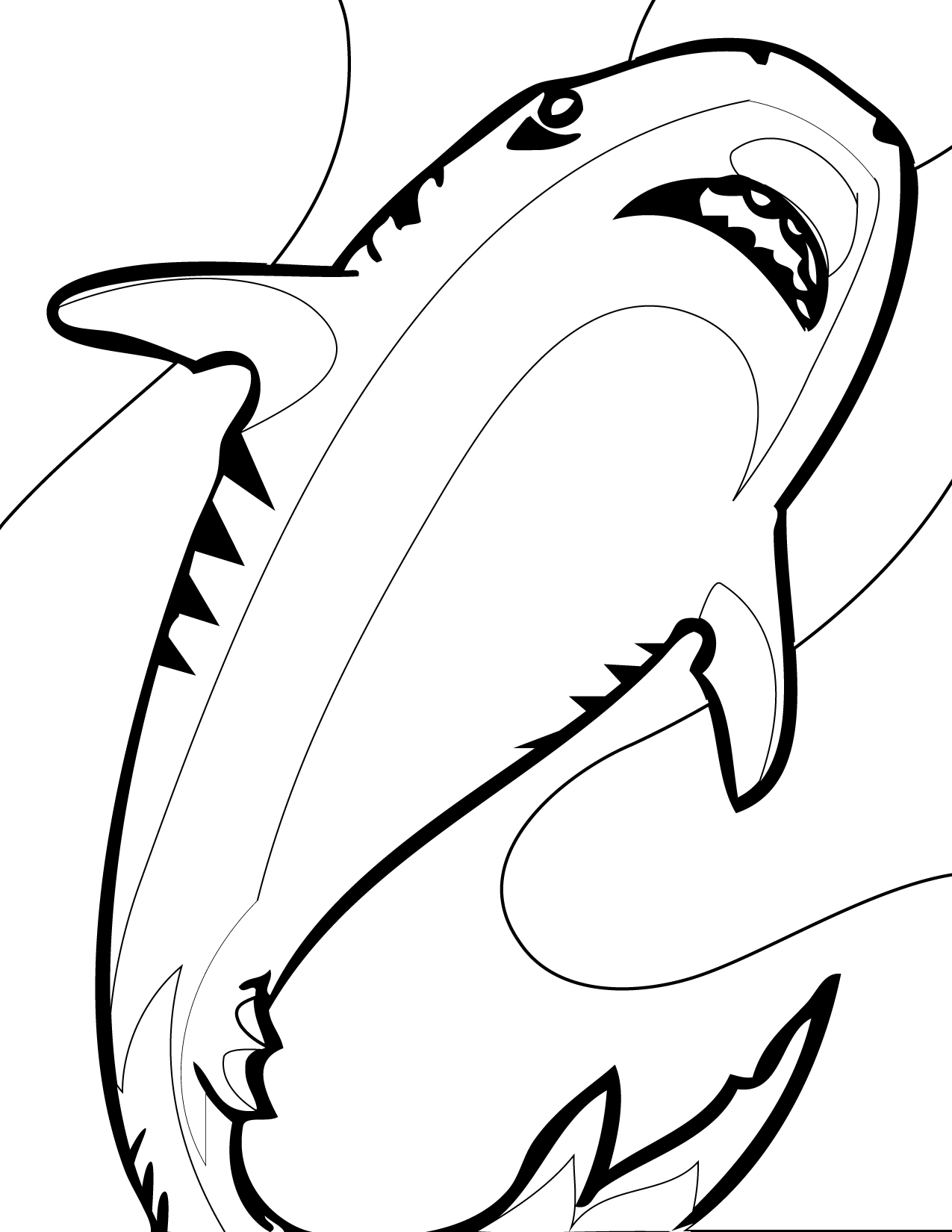 Sharks to color