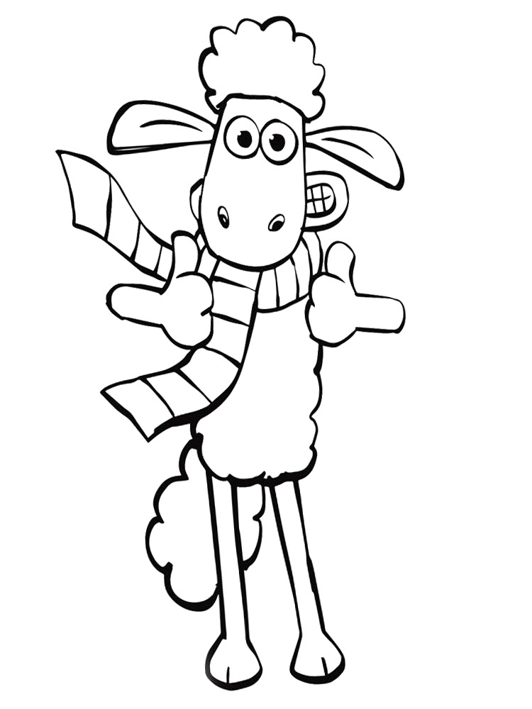 Shaun the sheep coloring pages free